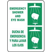 ACCUFORM SIGNS Safety Shower Sign, 36cm x 25cm , GRN/WHT SBMFSR502VP