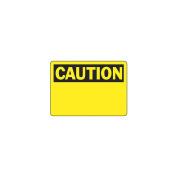 ACCUFORM SIGNS Caution Sign, 18cm x 25cm , BK/YEL, PLSTC, BLK MRBH607VP