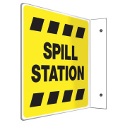 ACCUFORM SIGNS Sign, Spill Station, 20cm x 20cm . PSP487