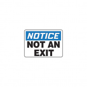 ACCUFORM SIGNS Notice Not An Exit Sign, 25cm x 36cm , ENG MADM832VS