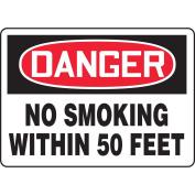 ACCUFORM SIGNS Danger No Smoking Sign, 18cm x 25cm , AL, ENG MSMK255VA