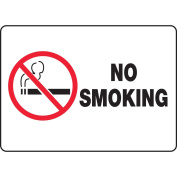 ACCUFORM SIGNS No Smoking Sign, 25cm x 36cm , R and BK/WHT MSMK948VS
