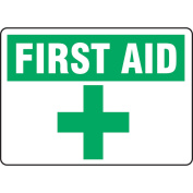 ACCUFORM SIGNS First Aid Sign, 25cm x 36cm , GRN/WHT, ENG MFSD922VS
