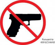 """Illinois Concealed Carry Sign, Zing, 2735S, 10cm Hx 6""""W"""