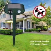 Solar Ultrasonic Garden Deterrent Repeller Cat Dog Fox Bird Scarer Pest Control