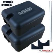 2 X Roshield External Rodent Rat Bait Box Kits - No Poison Bait