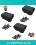3 X Poison Free Rat Treatment Stations And Traps, Safe, Quick And Humane