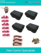 4 Ready Baited Rat Bait Boxes Package-30 Blocks & 10 X 100g Grain Poison Sachets
