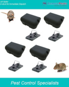 Rat Bait Stations X 4 And Traps, Safe, Quick And Humane Can Also House Poisons