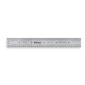 MITUTOYO Steel Rule, Rigid, 6In, 32/64ths/0.5/1mm 182-105
