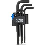 Capri Tools Hex Key Wrench Set, Long Arm Ballpoint End, Metric, Premium S2 Steel