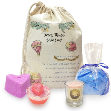 Great Things Take Time Mini Spa In A Bag Collection 2