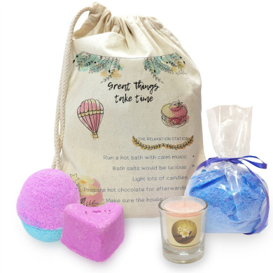 Great Things Take Time Mini Spa In A Bag Collection 4