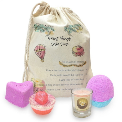 Great Things Take Time Mini Spa In A Bag Collection 1