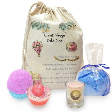 Great Things Take Time Mini Spa In A Bag Collection 3