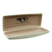 Glasses Case Spectacle Reading Rectangular Hard White Boyz Toys Optical