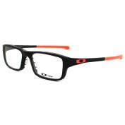 Oakley Glasses Frames Chamfer 8039 Ox8039-07 Matt Black & Neon Red