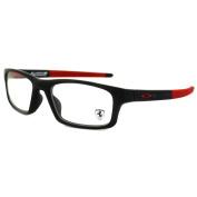 Oakley Glasses Frames Crosslink Pitch Ox8037-15-52 Satin Black & Red Ferrari