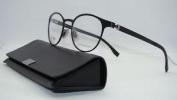 Hugo Boss 0842 003 Matte Black + Org Case Round Brille Frames Eyeglasses Size 49