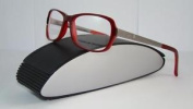 Porsche Design P 8207 B Red & Light Gunmetal Brille Eyeglasses Frames Size 53
