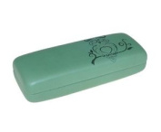 "'super ""owl Metal Glasses Case With Hinge In Blue Or Green"