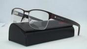 Hugo Boss 0562 5u1 Matte Brown + Org Case Half Rim Frames Eyeglasses Size 53