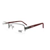 Mont Blanc Glasses Frames 0342 008 Shiny Gunmetal Red
