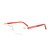 Porsche Design Glasses Frames P8245d D S1 Palladium & Red