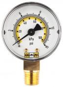 PLEWS & EDELMANN DIV AM1012-160 GAUGE 2 DIAL 0.6cm NPT 0-160