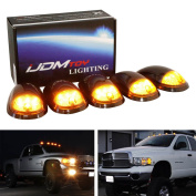 iJDMTOY 5PCS Smoked Lens Truck Cab Roof Lights w/ Amber LED Lights For Dodge RAM 1500 2500 3500 Ford F150 F250 F350 Chevy GMC Trucks