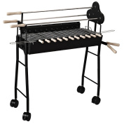 Outsunny Charcoal Trolley Bbq Garden Outdoor Barbecue Cooking Grill High