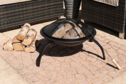 Livivo ® Round Folding Outdoor Patio Fire Pit For Garden Camping Bbq Picnics