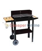 86 X 36 X 83.5cm Pagoda Waggon Bbq Grill With Wooden Side Table
