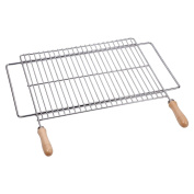 Sauvic 02815 60 X 40 Cm 18/8 Universal Extendable Stainless Steel Grill Rack For
