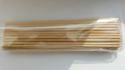 "100 Wooden Bamboo Bbq Chocolate Fountain Fondue Skewers Size - 6"" 15cm"