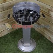 Halfround Bbq On Stand, Vented, Ash Tray Easy Clean, Coal Garden Patio