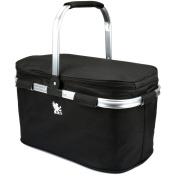 H & s® Folding Picnic Camping Insulated Cooler Cool Hamper Basket Zip Bag