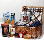 Fine Food Selection Hamper Presented In A 4 Person Henley Style Wicker Picnic