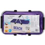 Kids Insulated Cooler Basket Cooling Tote Carry Bag Beach Picnic Box Purple