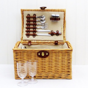 2 Person Hampton Wicker Picnic Basket With Accessories - Ideas For Wedding,