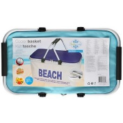 Kids Insulated Cooler Basket Cooling Tote Carry Bag Beach Travel Picnic Box Blue