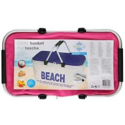 Kids Insulated Cooler Basket Cooling Tote Carry Bag Beach Travel Picnic Box Pink