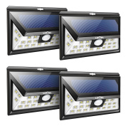 Solar Powered Motion Sensor Outdoor Light,litom 24 Led Outdoor Wall Lights