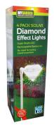 4pc Led Diamond Solar Power Light Outdoor Garden Modern . Stainless Steel