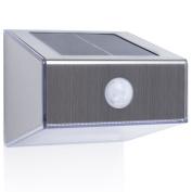 B#smartwares Solar Wall Light With Pir Sensor Trapezoid Silver Outdoor 5000.702