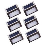 Asvert Solar Stair Lights Outdoor Led Step Lighting 2 Leds Stainless Steel For