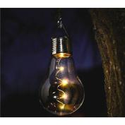 Maplin Solar Powered Light Glass Bulb Hanging Warm White Garden Outdoor