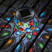 Auraglow Mosaic Solar Light Table Centrepiece Led Garden Alfresco Dining Lamp