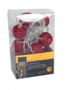 Cole & Bright Garden String Led Lights, 10pc, Round Mesh Design, Battery Powered