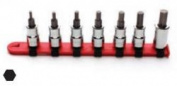 WRIGHT TOOL COMPANY SKT SET 1cm DR 7pc HEX BIT 0.3cm - 1cm